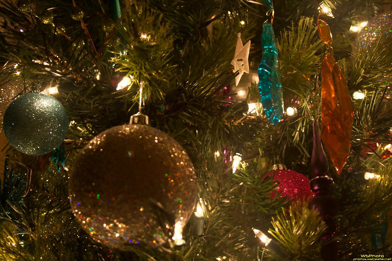 Crystalized Christmas<br /> This is a shot of a  friend's Christmas tree. I didn't have my tripod so was challenged to get this low-light shot hand-held.