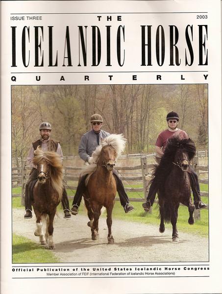 <i>The Icelandic Horse Quarterly</i> <br> Issue Three - 2003