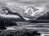 Morning on The Chilkat (bw)