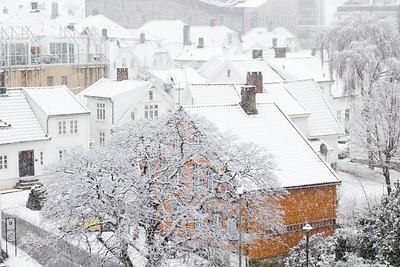 Snowfall in Stavanger