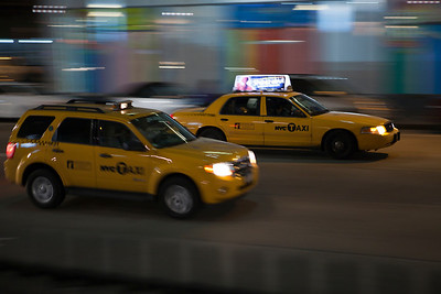 New York taxis. New York
