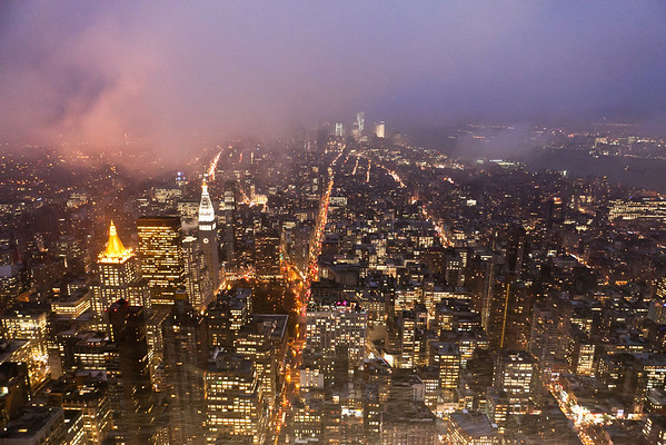 View from Empire State Building. New York