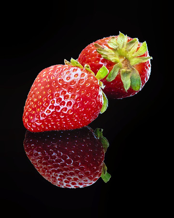 Mirrored Strawberry