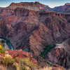Sunrise over Bright Angel Canyon, Grand Canyon - Arizona<br /> <br /> A cluster of deep green trees hides the Phantom Ranch, at the very bottom of the Kaibab Trail on the north side of the Colorado River. This image was taken on the hike back up to the south rim, a 5,000 foot grind of switchbacks and traverses.
