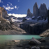 Torres del Paine - Chile<br /> <br /> On the southeastern edge of the Andes lies the granite towers of Torres del Paine. At the head of the Ascencio Valley is this opaque bottle-green tarn, with the tooth-like Paine Grande (2884m) towering over it all.