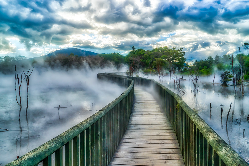 Rotorua, a town set on its namesake lake on New Zealand's North Island, is renowned for its geothermal activity and Maori culture.