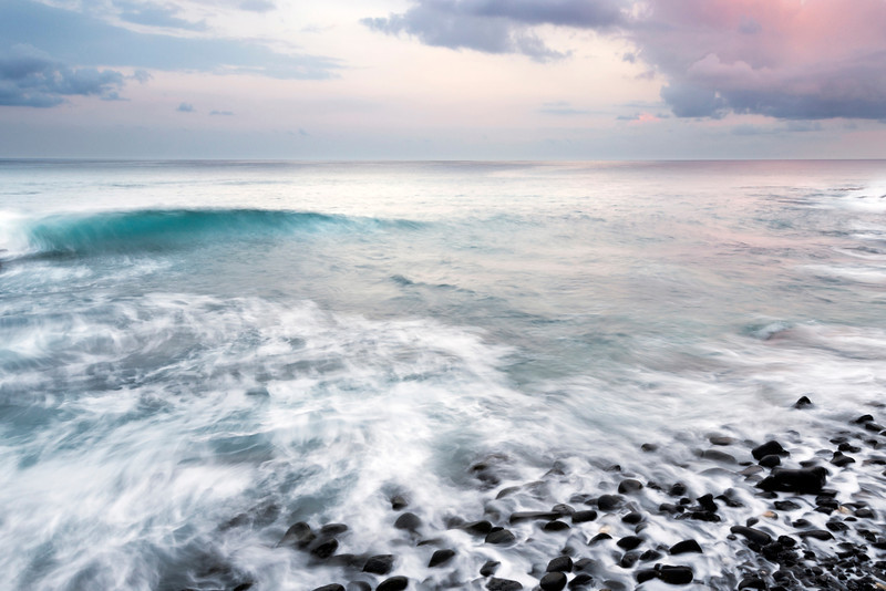 Pulse, Kona Coast - Hawaii<br /> <br /> The Pacific Ocean washes up onto the black lava stones of Kona, just before dawn. The waves are like a heartbeat - regular, visceral, seemingly never ending.  It is the heartbeat of the earth.