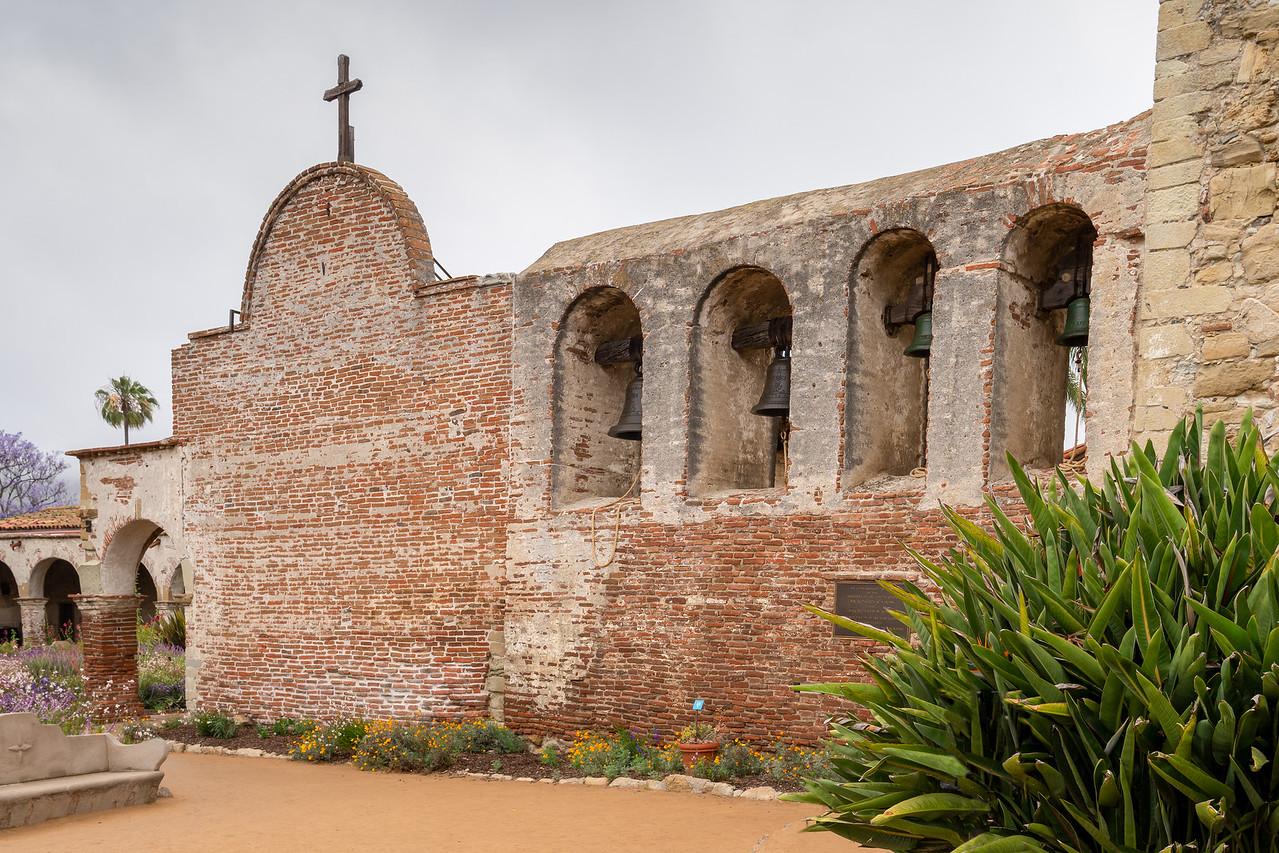 The bell wall at Mission San Juan Capistrano