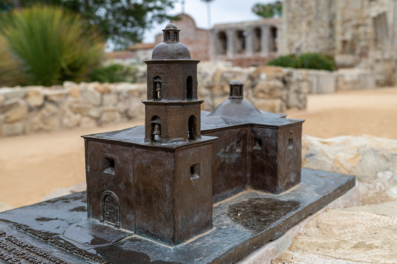 Model of The Old Stone Church as it was before the 1812 earthquake
