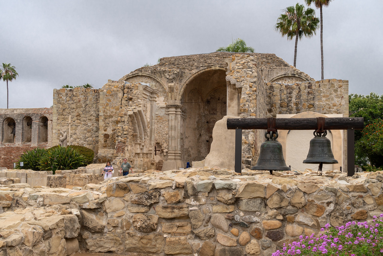 The Old Stone Church and original mission bells