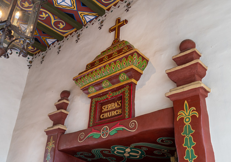 Decorative entrance to St. Serra's Chapel