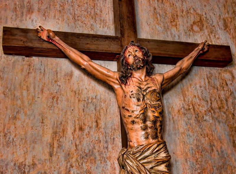 Jesus crucified, Mission San Xavier del Bac, Tucson