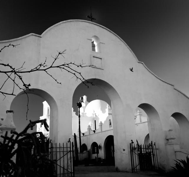 Rear courtyard, Mission San Xavier del Bac, Tucson