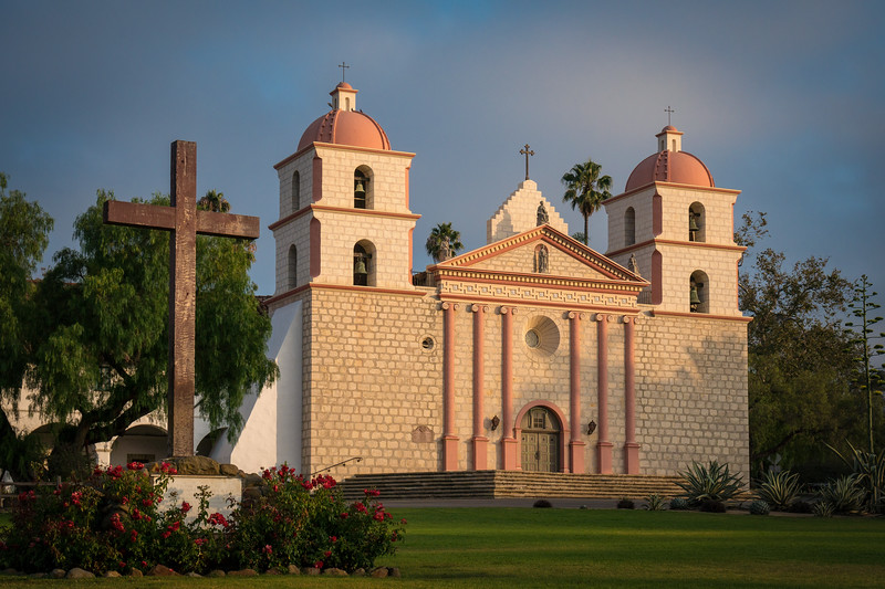 Sunrise at Mission Santa Barbara