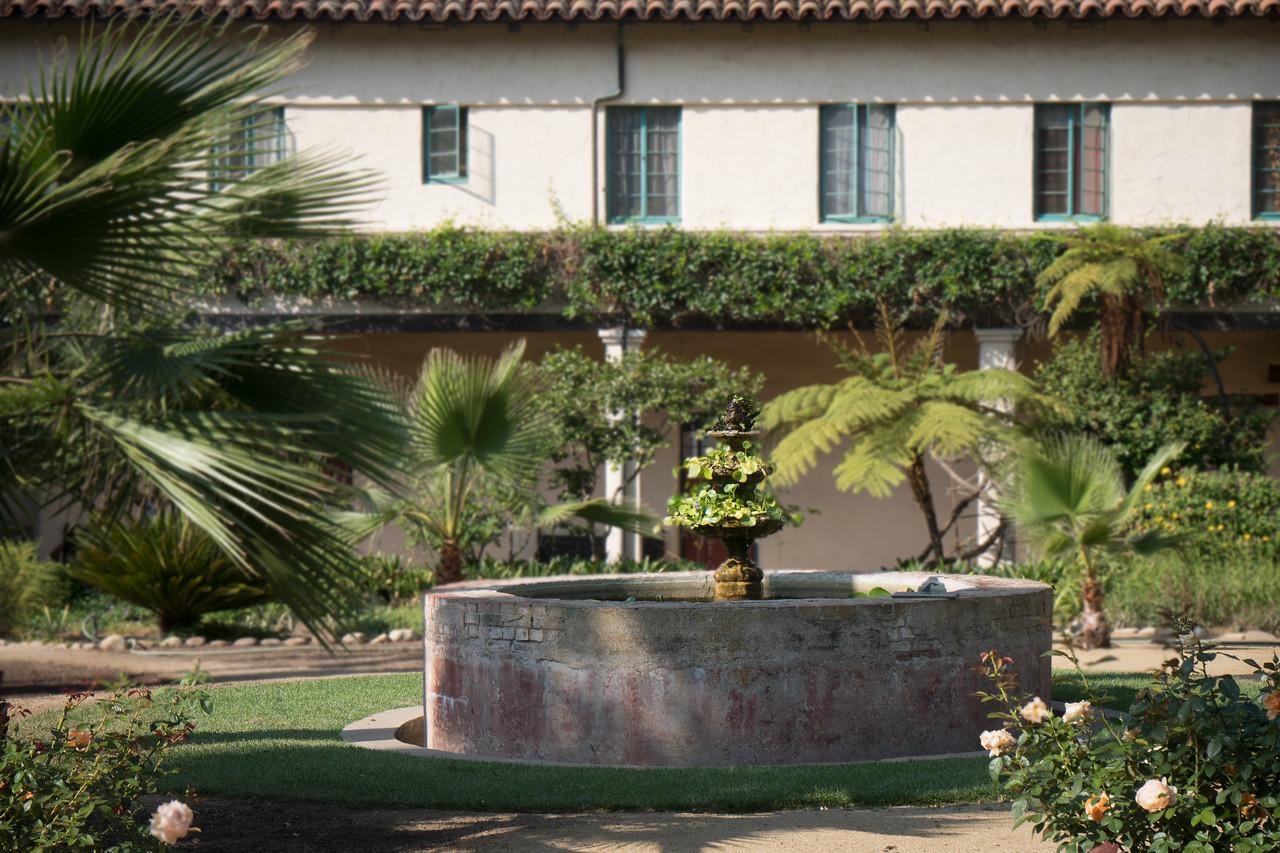 The Inner Quadrangle at Mission Santa Barbara