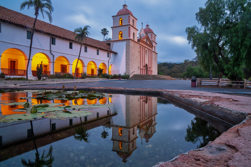 Dawn at Mission Santa Barbara