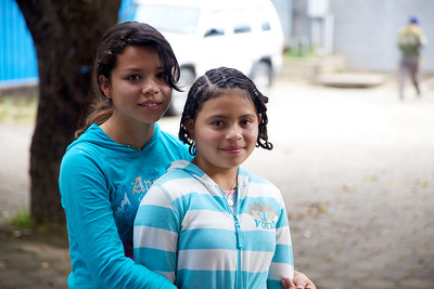 Our sponsored child Jacklelin and her sister Suzanna