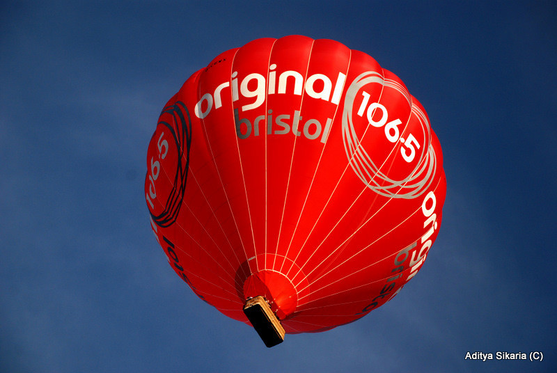 Title: Drifting along the sky.<br /> Location: Bristol balloon festival 2009
