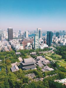 Blue Skies over Tokyo Japan