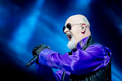 Judas Priest lead singer, Rob Halford, makes the crowd cheer excitedly with his incredible vocal range.