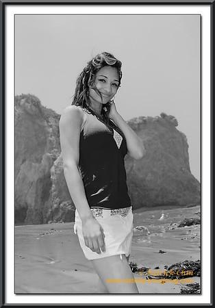 Alix at the Beach
