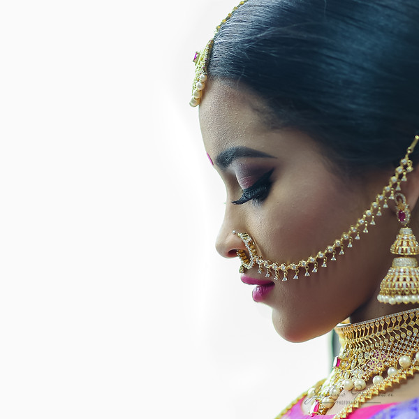 Bride: A woman  with a fine prospect of  happiness behind her.  - Ambrose Bierce.  #hairstyles #beautiful #brampton #fashion #fashionshow #torontowedding #torontomakeupartist #torontotamilwedding #toronto_insta #montreal #maccosmetics #hudabeauty #bride