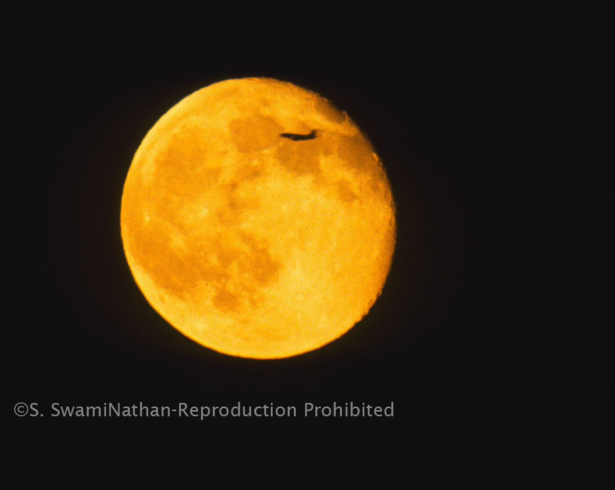 Full Moon and Jet