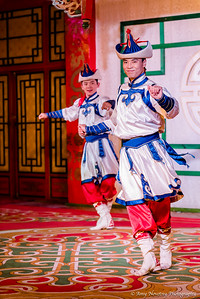 Traditional Mongolian dancers in the Tumen Ekh Ensemble