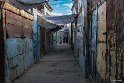 A street market in Mongolia