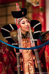 Traditional Mongolian dancer in the Tumen Ekh Ensemble