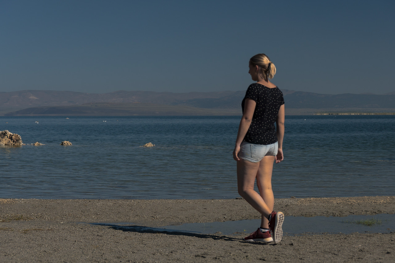 On the shore of Mono Lake