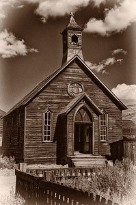 Old Town Church.    The church in Bodie, Ca, a ghost town in the eastern Sierra Nevada mountain range.