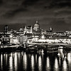 London Skyline at night - Black & White