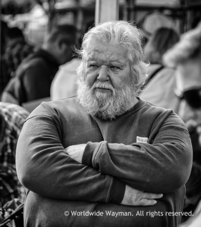 Beardy Man In Black & White