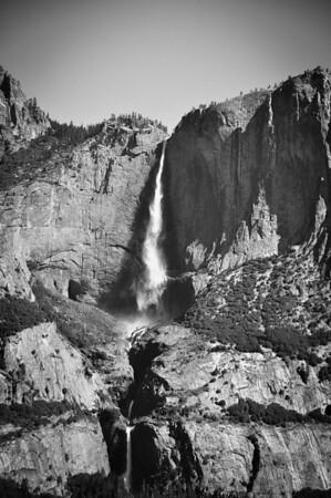 Yosemite Falls, Black & White
