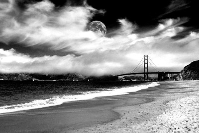 Golden Gate Bridge from the west end of Presidio Beach - © Simpson Brothers Photography