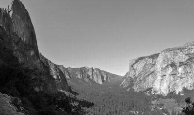 Sentinel Dome & Three Brothers from the Four-Mile Trail