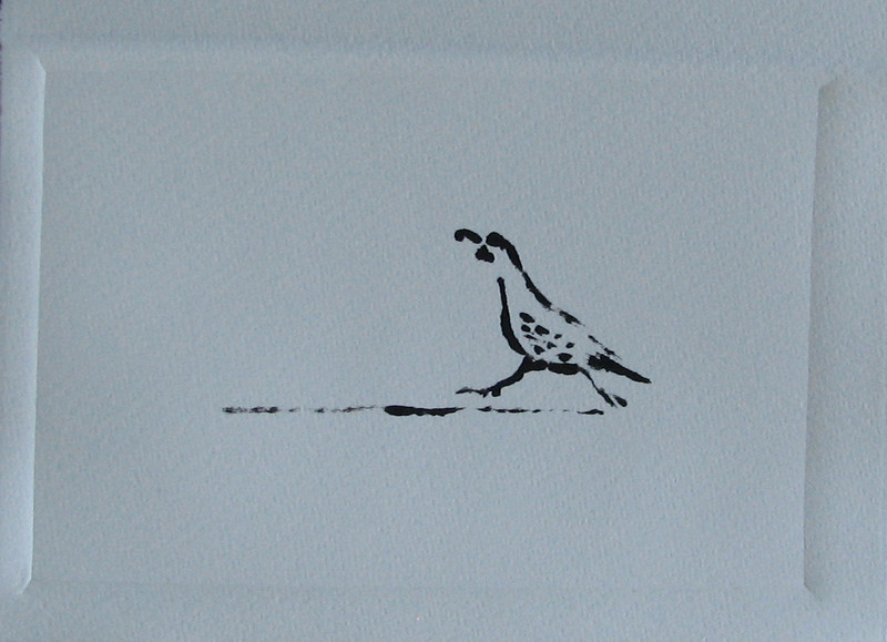 Quail Runner, Monotype Print, 2010