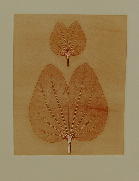 Heart Shaped Leaves, Monotype Print, 2010   SOLD