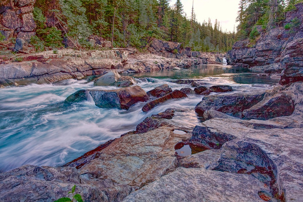 Glacier Mountain Stream