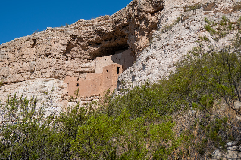 Montezuma Castle as seen from the park trail