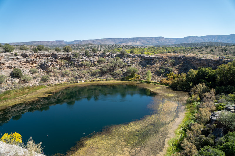 A view of Montezuma Well from the lookout area