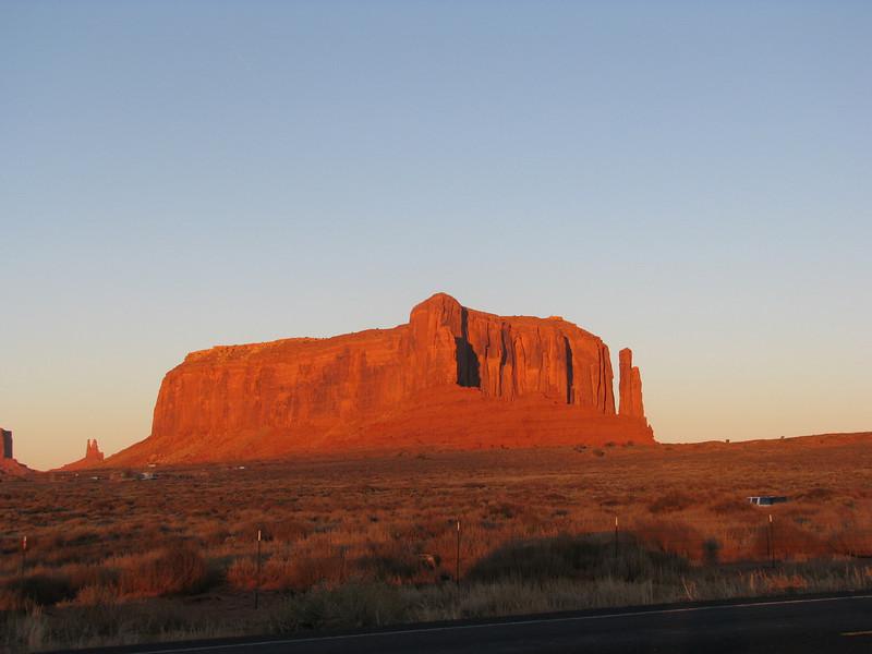 Sunset on Sentinel Mesa