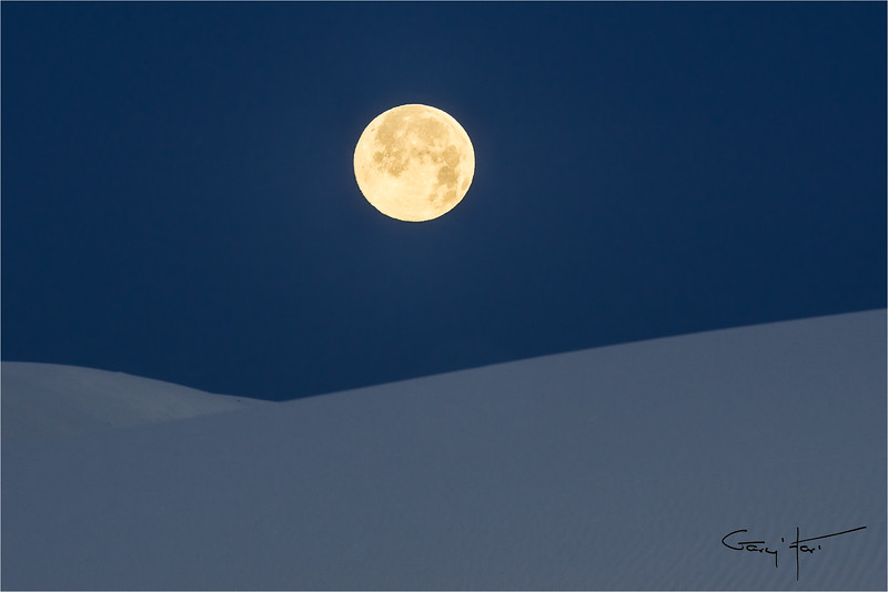 Dune Moon, White Sands National Monument, New Mexico