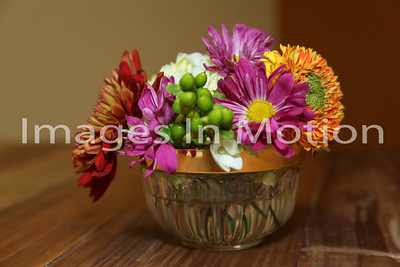 I love flowers from the formal to the casual like this arrangement!
