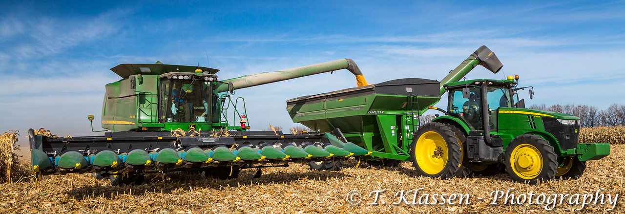 Corn harvest 2014 on the Froese farm near Winkler, Manitoba, Canada.