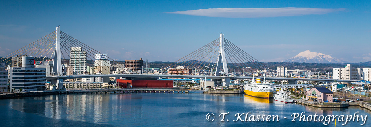 The port city of Aomori, northern Japan, Tōhoku region.
