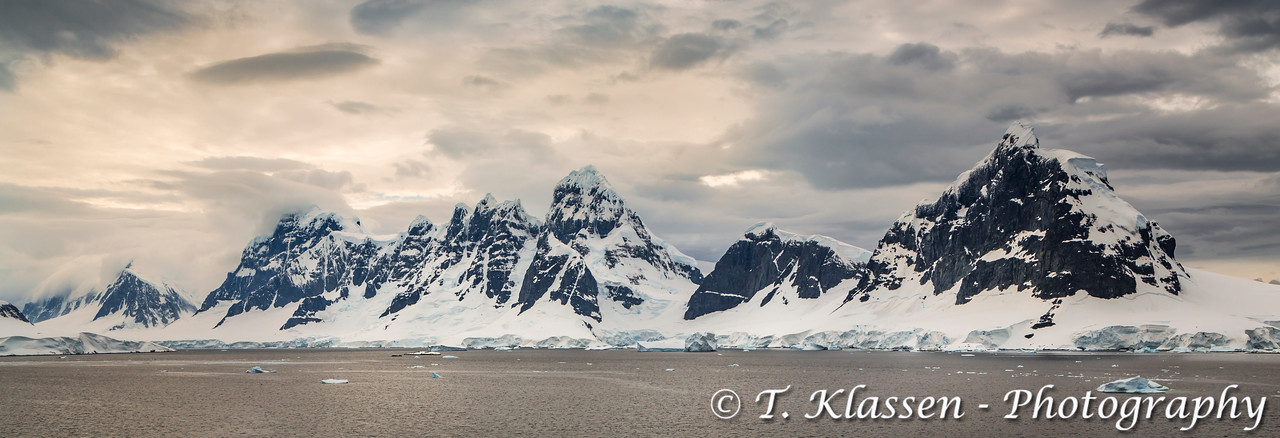 Mountain landscape  in the Antarctic Peninsula.