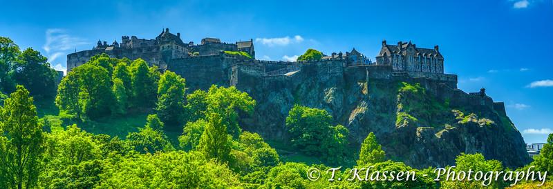 The Edinburgh Castle in downtown, Edinburgh, Scotland, United Kingdom, Europe.