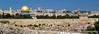 The skyline of Jerusalem, Israel from the Mount of Olives.